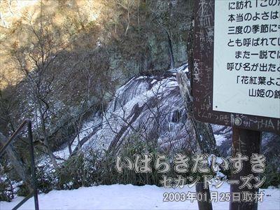 【袋田の滝を見下ろす】<br>袋田の滝を見下ろせる位置まで登りました。まだ頂上ではありません。