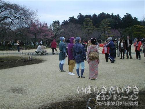 水戸黄門ご一行<br>今年は後ろ姿を撮影。観光客との記念撮影会。