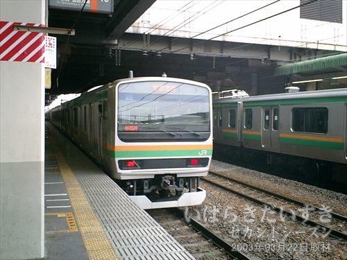 東北本線 宇都宮線 小山駅<br>大宮駅からおよそ50分で小山駅に到着。こんなに近かったんですねー。