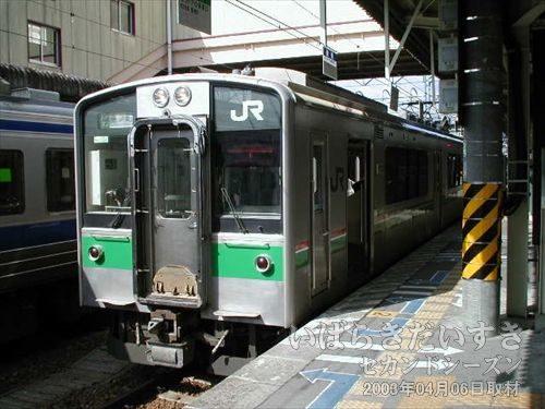 原ノ町駅行きの電車<br>09時18分発、原ノ町駅行き。まもなく発車します。