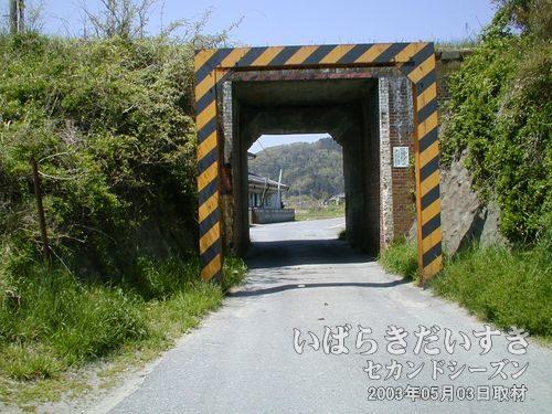常磐線下のトンネル<br>こちらをくぐって、左に進みます。