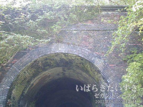 旧 鞍掛山トンネル 上部<br>旧トンネルはレンガ調で作られています。見た目はしっかりしているように見えるのですが。