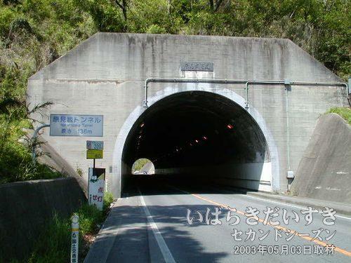 県道395号の原見坂トンネル<br>沼地らしき旧トンネルへのアクセスは無理をせず、先を進む事にします。