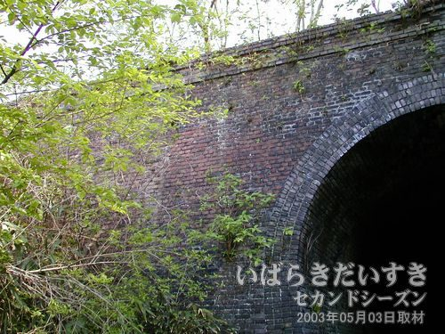 天神沢トンネル 上部<br>見た目に、まだ現役で使われているような雰囲気があります。
