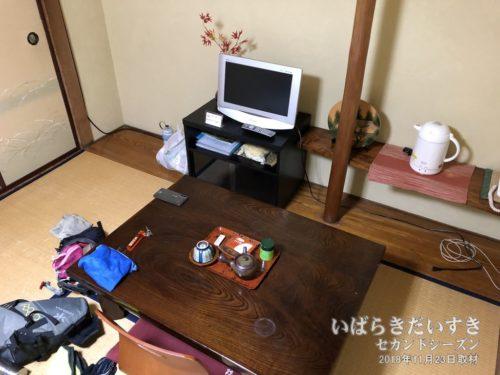 銚子屋旅館さん、無事にチェックイン。