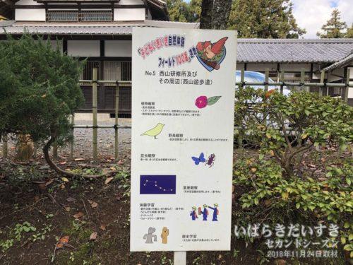 子どもいきいきフィールド100選<br>No.5 西山研修所及びその周辺(西山遊歩道)