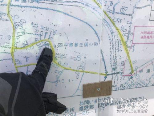 地図に「田中愿蔵生誕の地」の文字!!