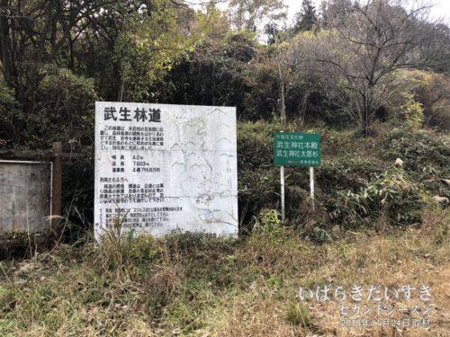 武生林道の看板:将来的には竜神ダム方面にもつながるようです。