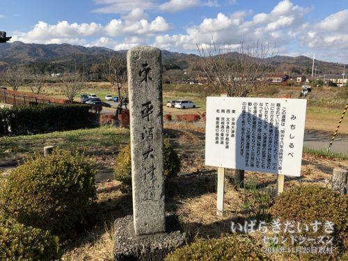 「みちしるべ」:川上川の桜木橋に設置されていました。