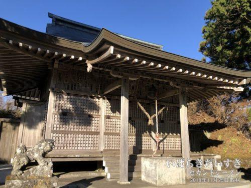八溝峰神社 拝殿。