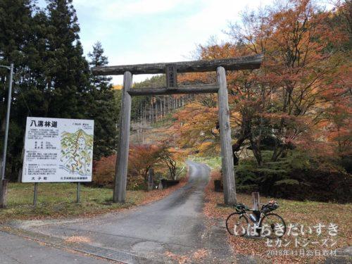八溝山 八溝峰神社 参拝道入口の鳥居。