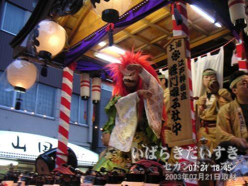 (→)赤狐が跳ねる<br>桜町二丁目の赤狐。踊りがシャープでカッコイイです(^^)。