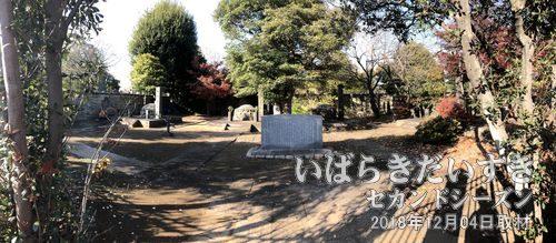最後の征夷大将軍 徳川慶喜<br>水戸徳川家 徳川斉昭の第7子。お墓は柵で仕切られ、敷地内には入ることができません。