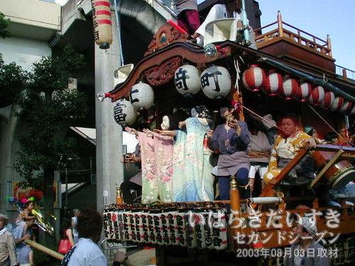 富士崎町の2人おかめ<br>ちょっとぎこちないような踊りがかわいらしい、ふたりのおかめ(*^^*)。