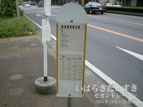 のりのりバス バス乗り場<br>通常の路線バスのバススタンドと比べ、半分くらいの大きさ。
