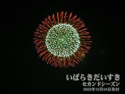 84:昇り小花付八重芯変化菊<br>小関煙火
