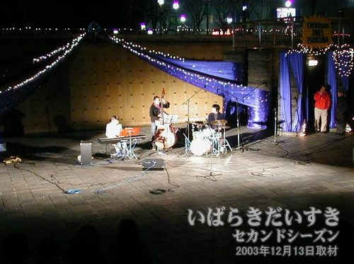演奏<br>合唱の後は楽器による演奏が行なわれます。