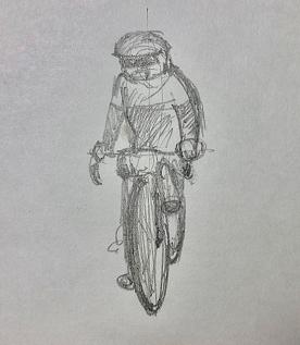 「自転車 ガンキャノンデールと共に旅に出る幸甚」の図