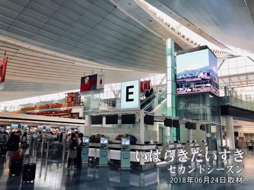 羽田空港 国際線ターミナル<br>国内便のサービスの良さは知っているけど、預けた自転車が壊れない保証はどこにもない。