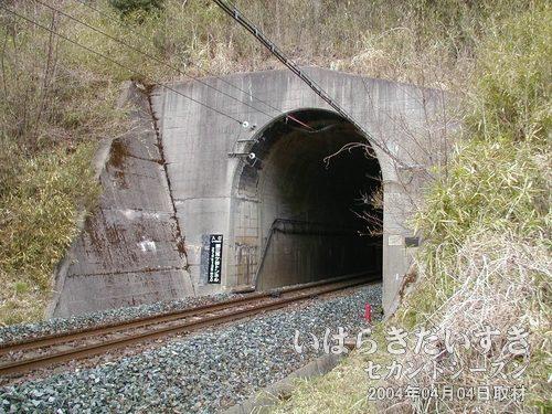 第三耳ヶ谷トンネル(現行/いわき側)<br>旧トンネルと並ぶように、奥に現行の第三耳ヶ谷トンネルがありました。
