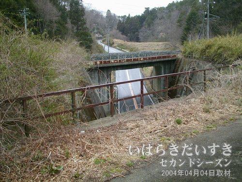 県道120号が眼下にあります<br>第二耳ヶ谷トンネルを抜けると眼下に県道。向こうには現行線路。
