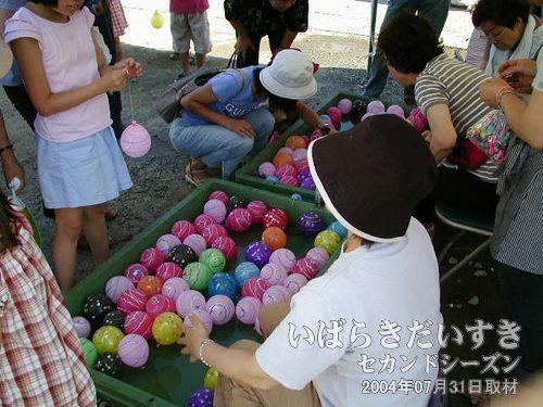 水風船<br>100~300円くらいが相場でしょうか。女の子に人気があります。