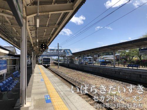 勿来駅に到着<br>何度か降り立っています。「勿来-大津港ハイキング」は17年前ですか。。