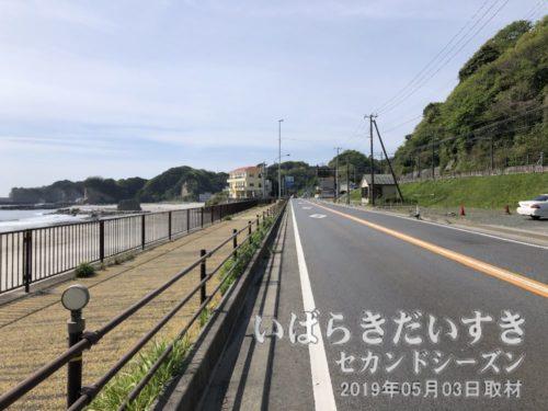 国道6号を南下する<br>勿来駅(福島県)方面から北茨城方面に南下します。