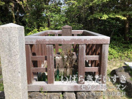 長久保赤水先生のお墓<br>日本地図を初めて作成し、世に広めました。その後、「大日本史」の執筆も行います。半世紀後に伊能忠敬が測量日本地図を作るも国家機密となり、一般には「赤水図」が知られることとなります。