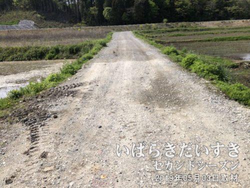 山側、高萩市松岡方面に向かう<br>事前に準備していた道は、時に、オフロードの時があります。。自転車がぶっ壊れる~。