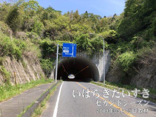 十石トンネルを通過<br>このトンネルは新しく掘られたトンネルです。