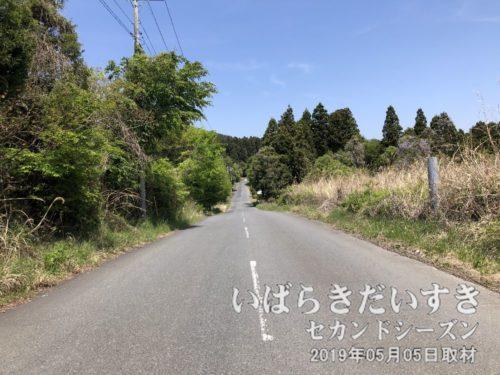 県道10号から県道299号へ<br>幹線道路から外れているので、交通量はそれほど多くありません。