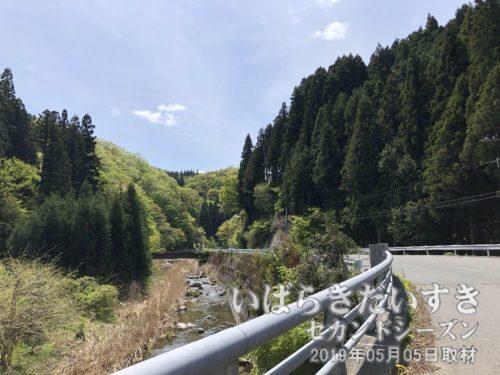 花園川沿いを西の花園神社方面へ進む。