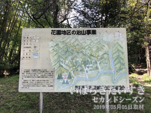 茨城県 花園地区の治山事業の看板
