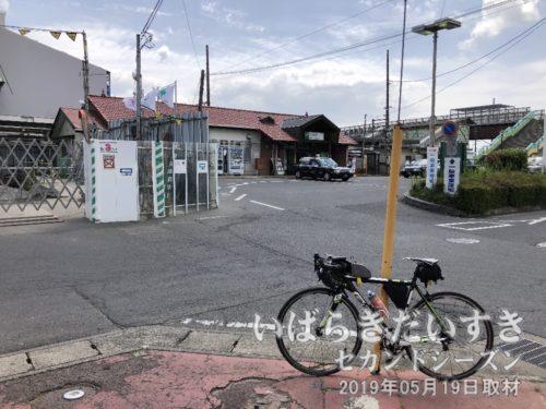 旧 羽鳥駅駅舎とロードバイク