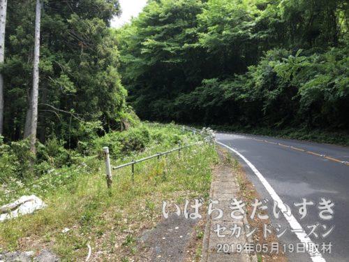 道祖神峠まで、地味にきつい坂が続きます。たまに暴走車が通り抜けます。