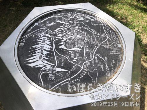 難台山山頂にある地図