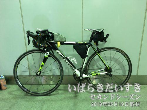 友部駅 南口の端っこで自転車を収納。