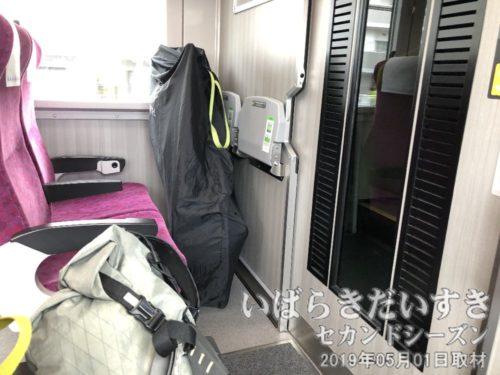 常磐線 グリーン車 輪行<br>休日の下り常磐線グリーン車は、空席が多い。