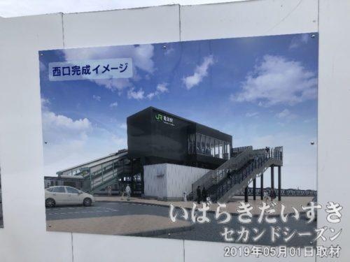 竜田駅 新駅舎 西口完成イメージ