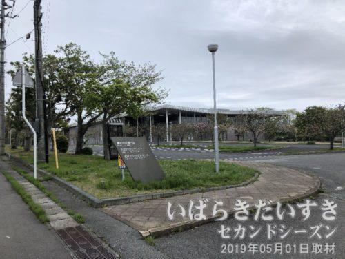 富岡町役場(福島県双葉郡富岡町)<br>役場まで来ましたが、雨雲が今にも雨を降らしそうだったので、戻ることにします。