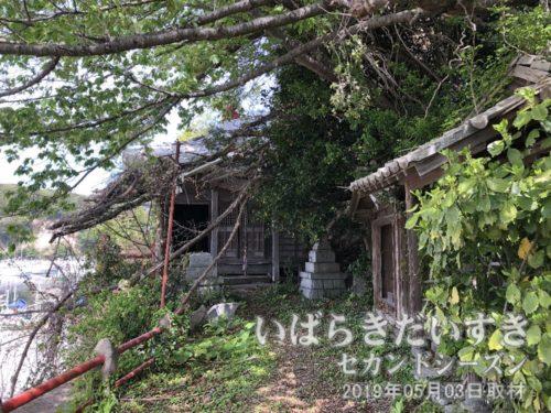 ボロボロの薬師如来堂<br>平潟港の東側の一角にある、如来堂。ずっと昔からボロボロです。