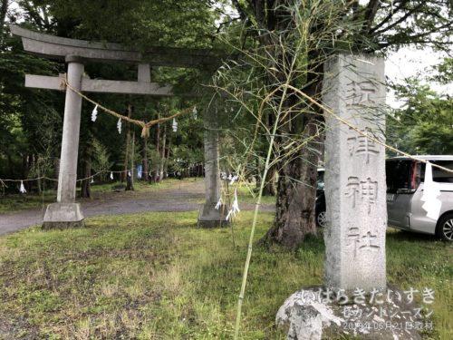 近津神社(下野宮)鳥居。
