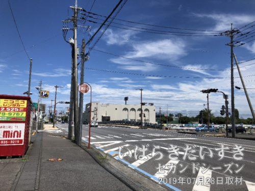 土浦市街地に続いていた桜川(霞ヶ浦)は埋め立てられてしまいましたが、形式として「橋」が残ります。