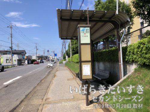 バス停「土浦一高前」。亀城公園までワープ。