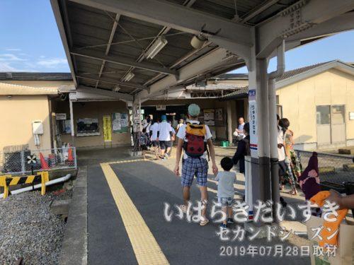 竜ヶ崎駅に到着。Suicaに対応しています。