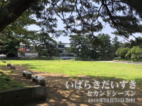 芝生の所に「亀城プール」がありました。