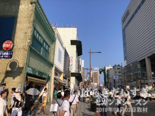 水戸京成百貨店前が区画整理<br>以前の旧・水戸京成百貨店は、写真左手の区画にありました。