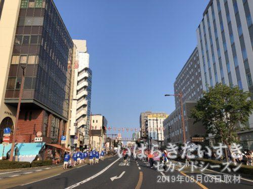 大工町交差点から、水戸市街地方面を眺める<br>普段は見ることのできない視点。