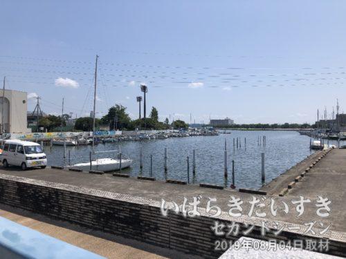 土浦港から近いのは、ジェットホイルつくば号乗り場。
